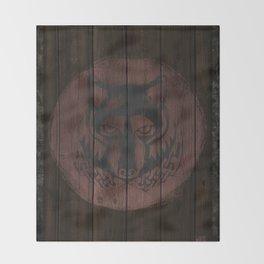Wolf Shield Throw Blanket