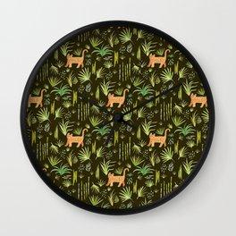 Jungle Cats Wall Clock