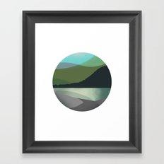 Calm Marble Landscape Framed Art Print