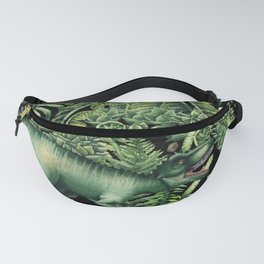 Realistic watercolor dinosaur Fanny Pack