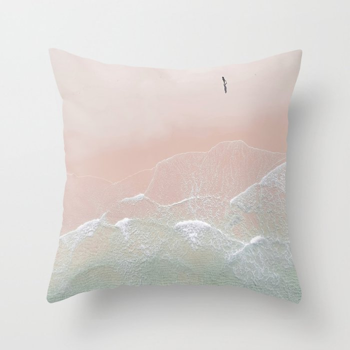 Ocean Walk II Throw Pillow