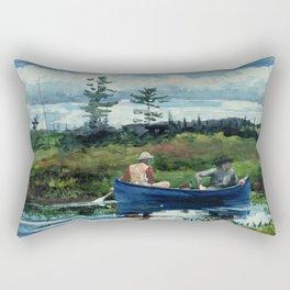Winslow Homer - The Blue Boat, 1892 Rectangular Pillow