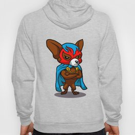 Cute dog chihuahua Fighter Lucha Libre Hoody