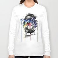 calcifer Long Sleeve T-shirts featuring Howl's Moving Castle by Sandra Ink