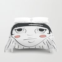 anime Duvet Covers featuring Anime Babe by Shaye Display Illustrations