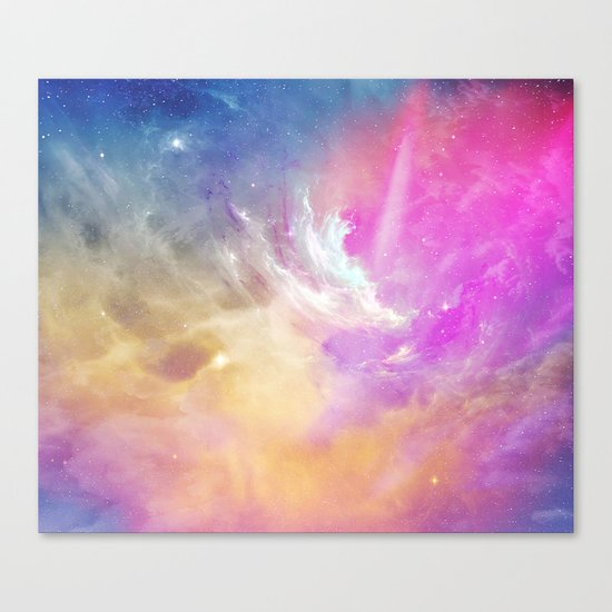 Galactic waves Canvas Print