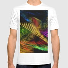 solvente cum coloribus White MEDIUM Mens Fitted Tee
