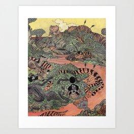 Mu Guai and the Tiger's Eye, Panel 7 Art Print