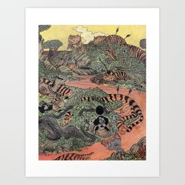 Mu Guai and the Tiger's Eye, Panel 7 Art Print