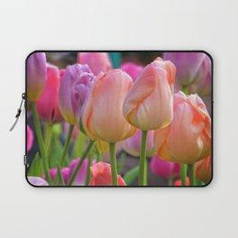 Spring Pastel Tulips Laptop Sleeve