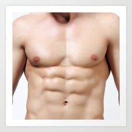 Sexy muscle man body Art Print