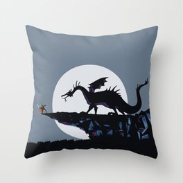 Maleficent, the dragon Throw Pillow