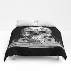 Pulled sugar, day of the dead skull Comforters
