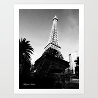 eiffel Art Prints featuring Eiffel by Melynda Nichole