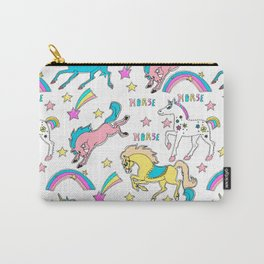 Magic  stars, horses, unicorns, pony . Сute seamless background. Carry-All Pouch