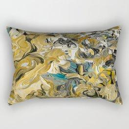 Marble Golden Planet Rectangular Pillow