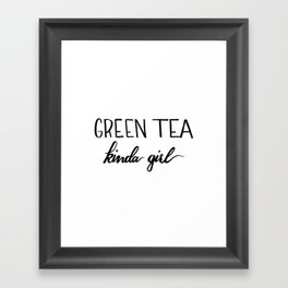 Green Tea kinda girl Framed Art Print