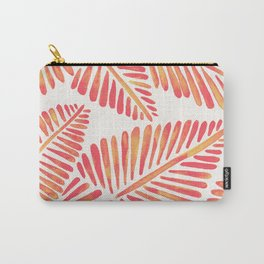 Tropical Banana Leaves – Pink & Peach Ombré Palette Carry-All Pouch