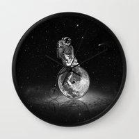 lunar Wall Clocks featuring Lunar Cycle by William McDonald