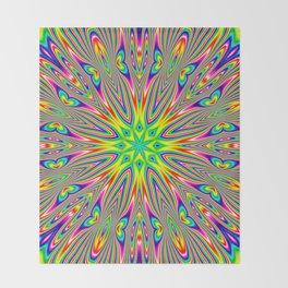 Psychedelic Rainbow Kaleidoscope Throw Blanket