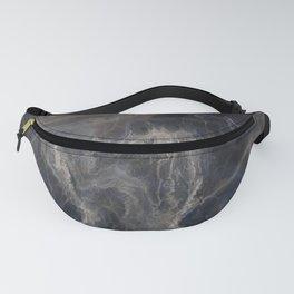 Grey Blue Web Fanny Pack