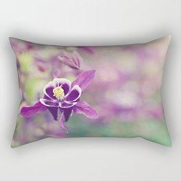 Purple Columbine Rectangular Pillow