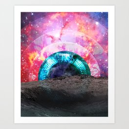Diamond Eye Art Print