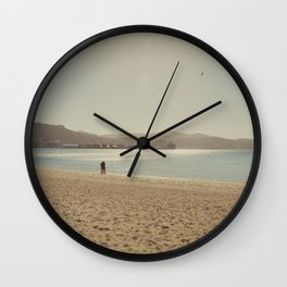 Wellington beach romance Wall Clock