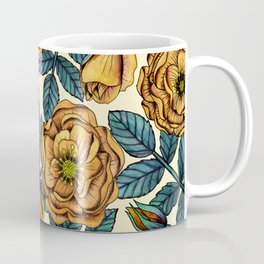 Golden Yellow Roses - A Vintage-Inspired Floral/Botanical Pattern Coffee Mug