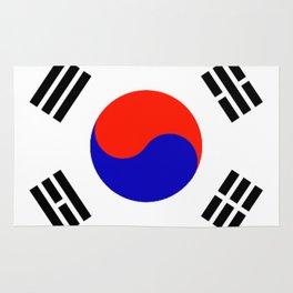South Korean Flag Logo Rug