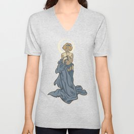 Mucha Pin Up Girl Unisex V-Neck