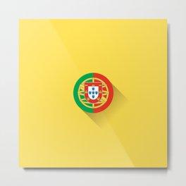 Minimal Portugal Flag Metal Print