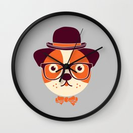 Hipster Dog Wall Clock