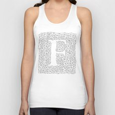 Letter F Unisex Tank Top