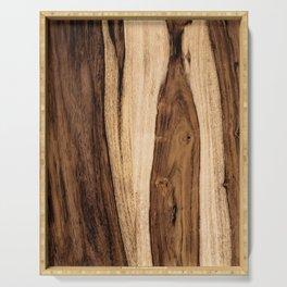 Sheesham Wood Grain Texture, Close Up Serving Tray