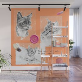 Cats and psychoanalysis Wall Mural