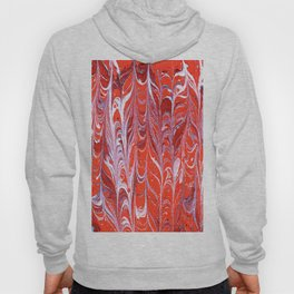 Red Feathers Passion Love Pattern Abstract Art Hoody