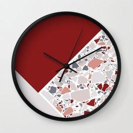 Claret Terrazzo Wall Clock