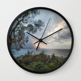Sunset Over Hanalei Bay from St Regis Wall Clock