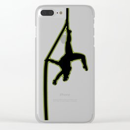 Neon Aerial #3 Clear iPhone Case