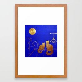 MAGIC GOLDEN MOMENT Framed Art Print