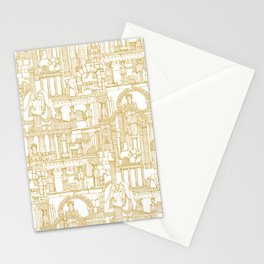 Ancient Greece gold white Stationery Cards