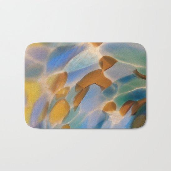 Colored Glass Bath Mat
