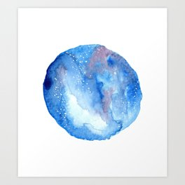 Galaxy stars Art Print