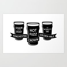 The Winchester, The Crown & The Golden Mile Art Print