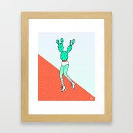 Jazzercise Cactus Framed Art Print