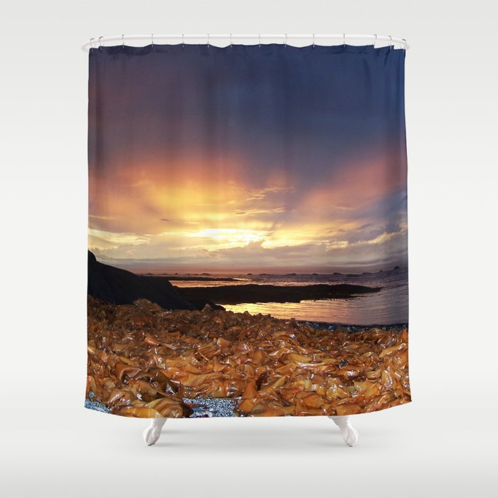 Seaweed Sunset Shower Curtain