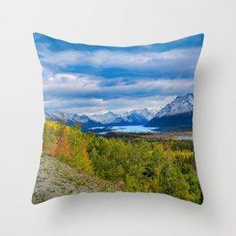 Matanuska Glacier, Alaska - Autumn Throw Pillow