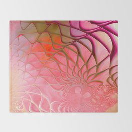 Web of the Universe (coral and magenta) Throw Blanket