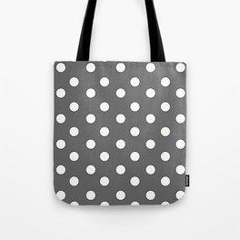 Grey Pastel Polka Dots Tote Bag